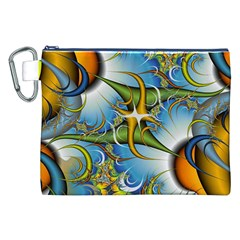 Random Fractal Background Image Canvas Cosmetic Bag (xxl)