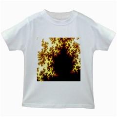 A Fractal Image Kids White T Shirts