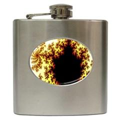 A Fractal Image Hip Flask (6 oz)