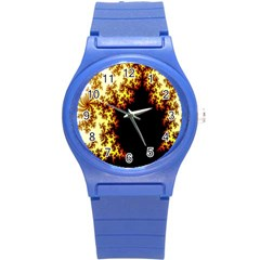 A Fractal Image Round Plastic Sport Watch (S)