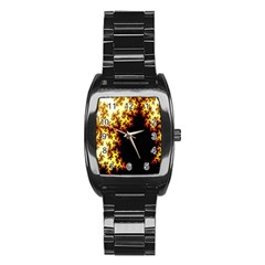 A Fractal Image Stainless Steel Barrel Watch