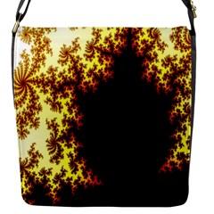 A Fractal Image Flap Messenger Bag (S)