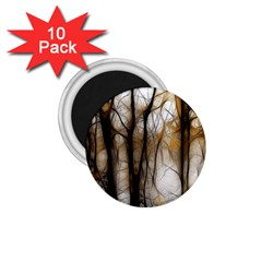 Fall Forest Artistic Background 1 75  Magnets (10 Pack)