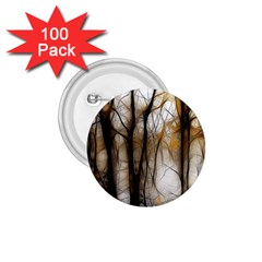 Fall Forest Artistic Background 1.75  Buttons (100 pack)