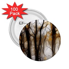 Fall Forest Artistic Background 2.25  Buttons (100 pack)