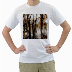 Fall Forest Artistic Background Men s T Shirt (white) (two Sided)