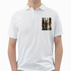 Fall Forest Artistic Background Golf Shirts