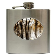 Fall Forest Artistic Background Hip Flask (6 oz)