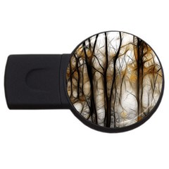 Fall Forest Artistic Background Usb Flash Drive Round (2 Gb)