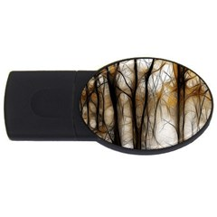 Fall Forest Artistic Background USB Flash Drive Oval (1 GB)