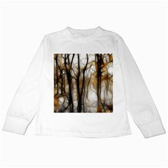 Fall Forest Artistic Background Kids Long Sleeve T Shirts