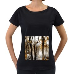 Fall Forest Artistic Background Women s Loose Fit T Shirt (black)