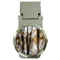 Fall Forest Artistic Background Money Clip Watches