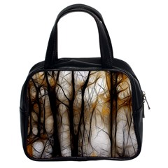 Fall Forest Artistic Background Classic Handbags (2 Sides)