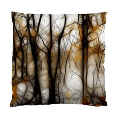 Fall Forest Artistic Background Standard Cushion Case (one Side)