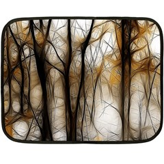 Fall Forest Artistic Background Double Sided Fleece Blanket (mini)