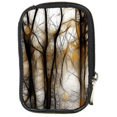 Fall Forest Artistic Background Compact Camera Cases