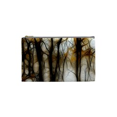Fall Forest Artistic Background Cosmetic Bag (small)