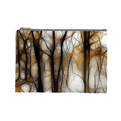 Fall Forest Artistic Background Cosmetic Bag (large)
