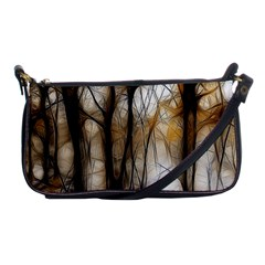 Fall Forest Artistic Background Shoulder Clutch Bags
