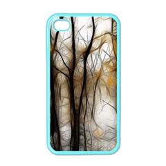 Fall Forest Artistic Background Apple iPhone 4 Case (Color)