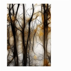 Fall Forest Artistic Background Large Garden Flag (Two Sides)