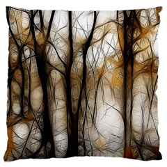 Fall Forest Artistic Background Large Cushion Case (Two Sides)