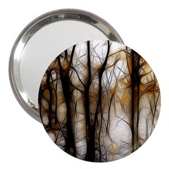 Fall Forest Artistic Background 3  Handbag Mirrors