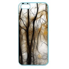Fall Forest Artistic Background Apple Seamless iPhone 5 Case (Color)