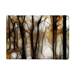 Fall Forest Artistic Background Apple iPad Mini Flip Case