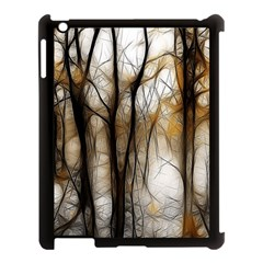 Fall Forest Artistic Background Apple iPad 3/4 Case (Black)