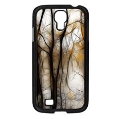 Fall Forest Artistic Background Samsung Galaxy S4 I9500/ I9505 Case (Black)