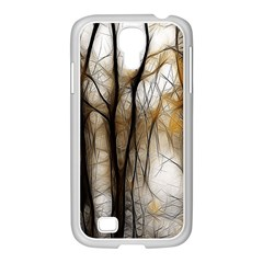 Fall Forest Artistic Background Samsung GALAXY S4 I9500/ I9505 Case (White)