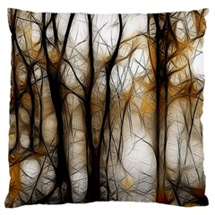 Fall Forest Artistic Background Large Flano Cushion Case (Two Sides)