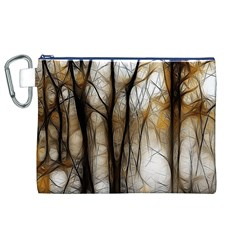 Fall Forest Artistic Background Canvas Cosmetic Bag (XL)