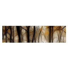 Fall Forest Artistic Background Satin Scarf (oblong)