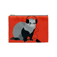 Funny Music Lover Ferret Cosmetic Bag (Medium)