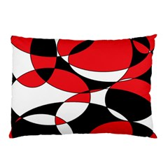 Black, White and Red Ellipticals Pillow Case (Two Sides)