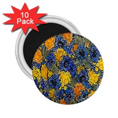 Floral Pattern Background 2.25  Magnets (10 pack)