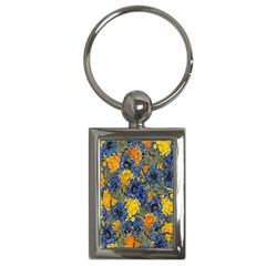 Floral Pattern Background Key Chains (rectangle)