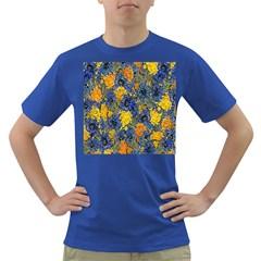 Floral Pattern Background Dark T-Shirt