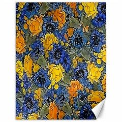 Floral Pattern Background Canvas 12  X 16