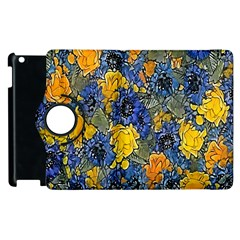 Floral Pattern Background Apple iPad 2 Flip 360 Case