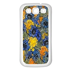 Floral Pattern Background Samsung Galaxy S3 Back Case (White)