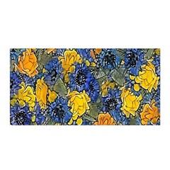 Floral Pattern Background Satin Wrap