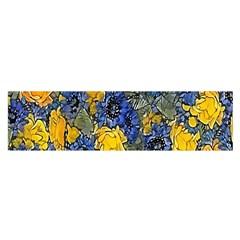 Floral Pattern Background Satin Scarf (Oblong)