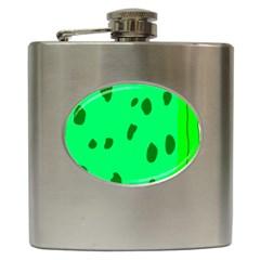 Alien Spon Green Hip Flask (6 Oz)