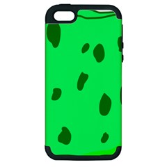 Alien Spon Green Apple Iphone 5 Hardshell Case (pc+silicone)