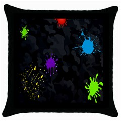 Black Camo Spot Green Red Yellow Blue Unifom Army Throw Pillow Case (black)