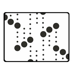 Black Circle Fleece Blanket (small)